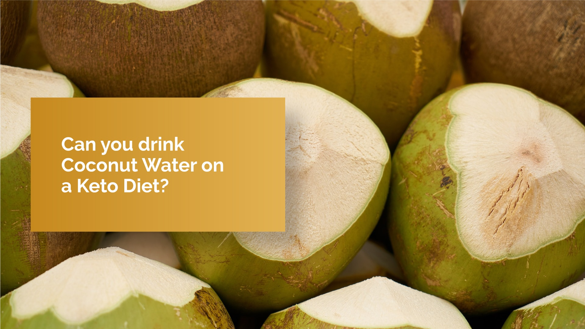 coconut water keto diet