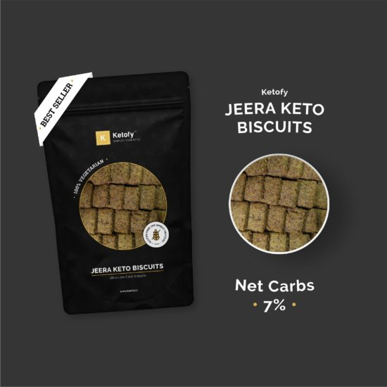 Ketofy - Jeera Keto Biscuits