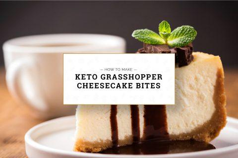 Keto Grasshopper Cheesecake Bites