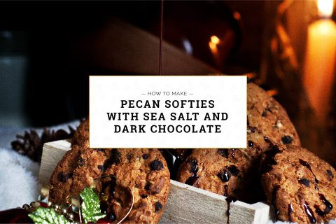 Pecan Softies with Sea Salt and Dark Chocolate