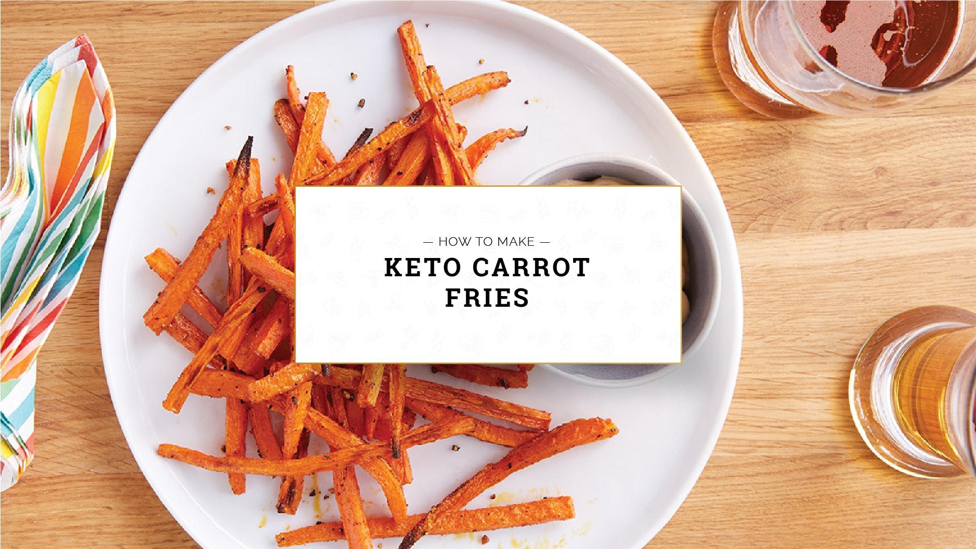Keto Carrot Fries, how to make keto carrot fries