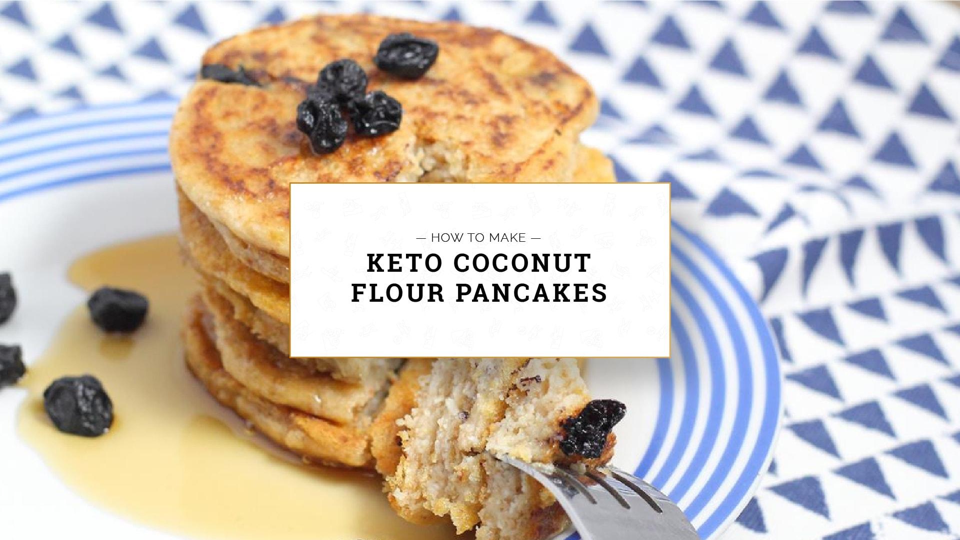 how to make Keto Coconut Flour Pancakes