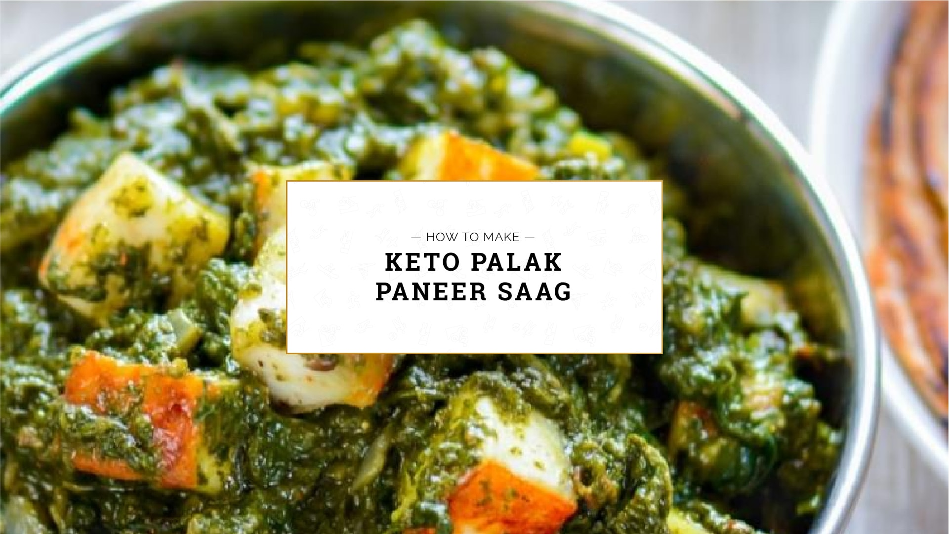 Keto Palak Paneer Saag, how to make keto palak paneer saag
