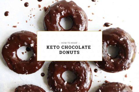 Keto Chocolate Donuts, how to make keto chocolate donuts
